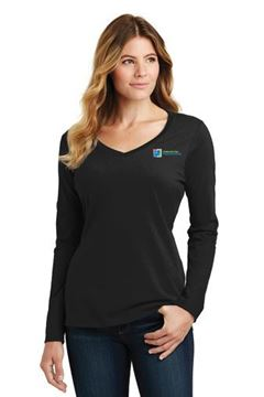 Picture of LPC450VLS Port & Company® Ladies Long Sleeve Fan Favorite™ V-Neck Tee